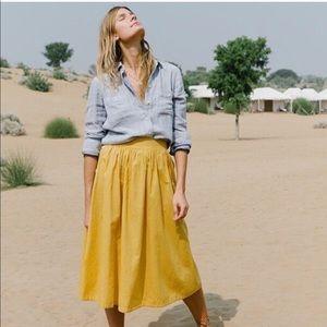 Madewell Side Button Midi Skirt, sz 8